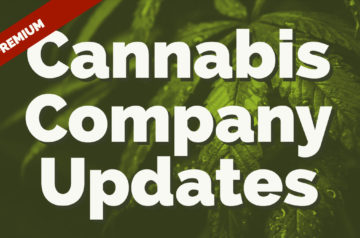 Cannabis Company Updates! April 8, 2019