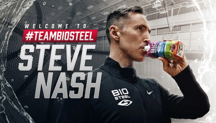 Canopy Growth-backed BioSteel adds Steve Nash as newest ambassador
