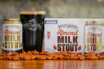 Tilray's SweetWater just launched a plant-based, non-dairy almond milk stout